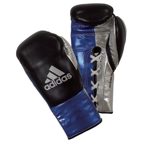 Adidas Adistar Pro Boxing Gloves - Black/Blue
